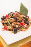 Stir fried egg plant, Thai food. Stock Photography