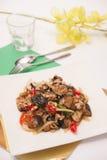 Stir fried egg plant, Thai food. Stock Images