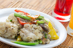 Stir Fried Garoupa With Black Pepper Stock Images