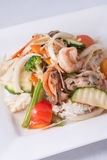 Stir fried ginger sauce seafood with rice Stock Photography
