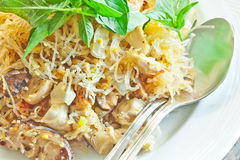 Stir fried  glass noodles Royalty Free Stock Photos