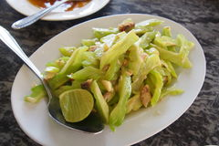 Stir fried Gourd with  salted fish Stock Image