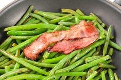 Stir-fried green beans Stock Photo