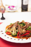 Stir fried grill duck with black pepper. Royalty Free Stock Photos
