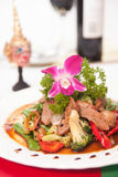 Stir fried grill duck with black pepper. Stock Image
