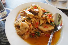 Stir fried grouper fish Royalty Free Stock Photography