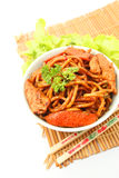 Stir fried Hokkien Noodle in the bowl Stock Image