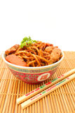 Stir fried Hokkien Noodle in the bowl Stock Photography