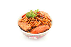 Stir fried Hokkien Noodle in the bowl Royalty Free Stock Image