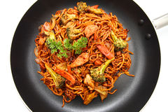 Stir fried Hokkien Noodle stock photo