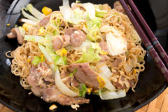 Stir fried instant noodle. Pic of Stir fried instant noodle Stock Images