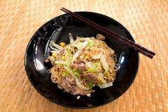 Stir fried instant noodle. Pic of Stir fried instant noodle Stock Photo
