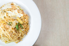 Stir fried instant noodle Royalty Free Stock Photos