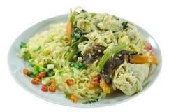 Stir fried instant noodles Stock Images
