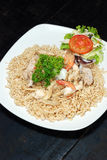 Stir fried instant noodles Royalty Free Stock Image