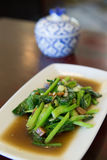 Stir-fried kaled with sun-dried salted fish Stock Photography