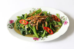 Stir fried Kangkung Royalty Free Stock Images