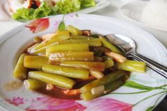 Stir fried lotus stem Stock Images