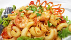 Stir fried macaroni Royalty Free Stock Photos