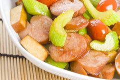 Stir-fried Meat and Vegetables Stock Photos