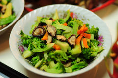 Stir fried mezcló el plato de las verduras Fotos de archivo