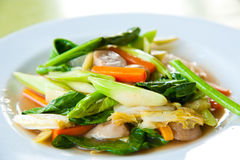 Stir-fried mix colorful vegetables Royalty Free Stock Photography