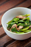 Stir-fried mix colorful vegetables and herb Stock Photo
