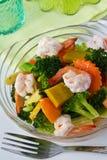 Stir fried mix vegatbles. Thai Food, Stir fried mix vegatbles with shrimp Royalty Free Stock Image