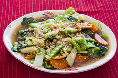 Stir-fried mix  vegetables Royalty Free Stock Photos