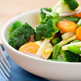 Stir-fried mixed vegetables in a bowl Stock Photo