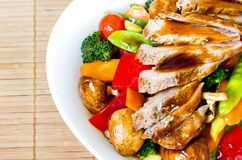 Stir fried mixed vegetables with meat Stock Images