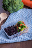Stir fried mixed vegetables and rice berry Stock Images