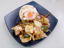 Stir Fried mixed vegetables with Roasted Chili Paste , fried egg ...
