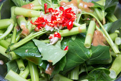 Stir fried. Of morning glory thai style Royalty Free Stock Images