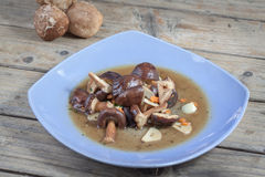 Stir fried mushroom Royalty Free Stock Image