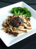 Stir fried mushroom in x.o. sauce Royalty Free Stock Photo