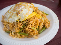 Stir fried noodle with eggs and vegetable, cambodia food. Stock Photography