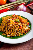 Stir-fried noodle. Malaysia mamak style mee goreng stock photography
