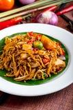 Stir-fried noodle. Malaysia mamak style mee goreng Stock Photography