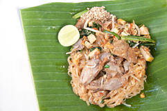 Stir-fried noodle Pad Thai. Royalty Free Stock Photography