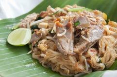 Stir-fried noodle Pad Thai. Stock Photos