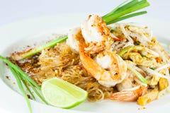 Stir fried noodle with shrimp Stock Images