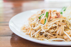 Stir-fried noodle with shrimp or Shrimps Pad Thai Royalty Free Stock Photo