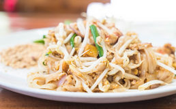 Stir-fried noodle with shrimp or Shrimps Pad Thai stock photography