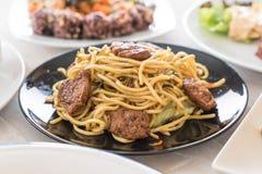 Stir-fried noodle - vegan food Royalty Free Stock Photography