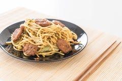 Stir-fried noodle - vegan food Stock Images