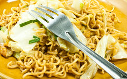 Stir-fried noodles Royalty Free Stock Images