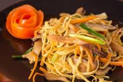 Stir fried noodles Stock Photos