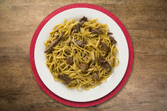 Stir-fried noodles, Chow mein. Chinese cuisine Royalty Free Stock Photos