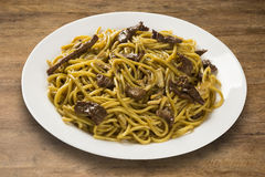 Stir-fried noodles, Chow mein. Chinese cuisine Stock Images